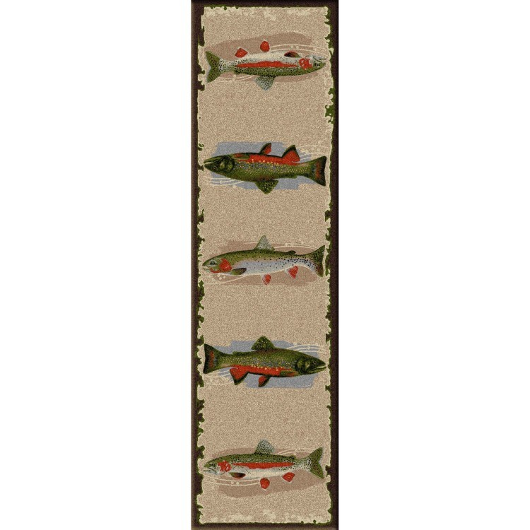 Pebble creek fish area rugs for Fish area rug