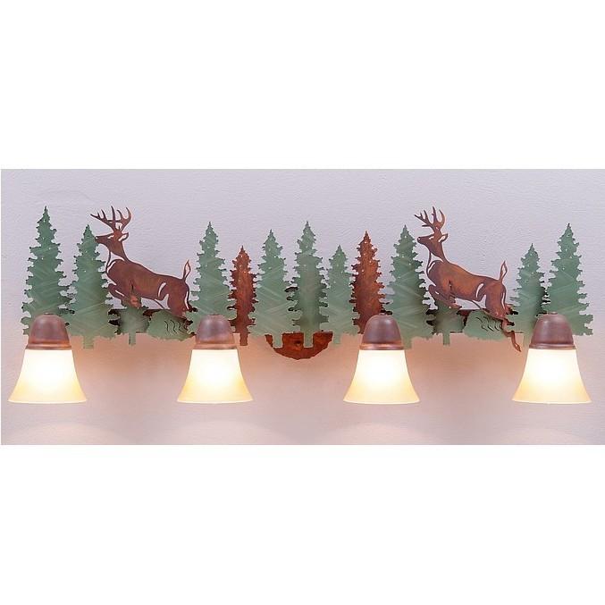 Deer Bathroom Vanity Lights : Lakeside Vanity Lights - Deer