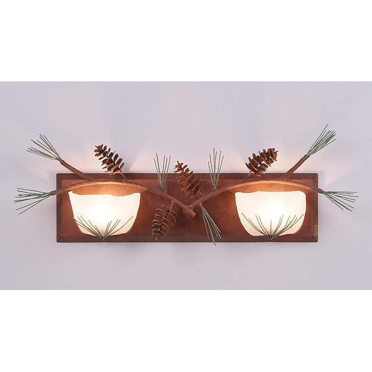 Vanity Lights Halogen : Halogen Pine Cone Vanity Lights