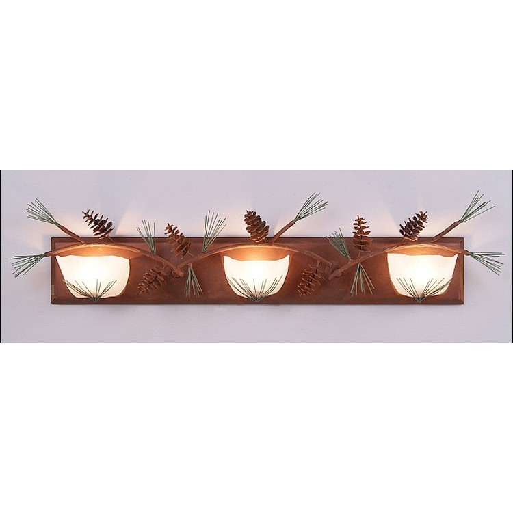 Halogen Lights For Vanity : Halogen Triple Pine Cone Vanity Light
