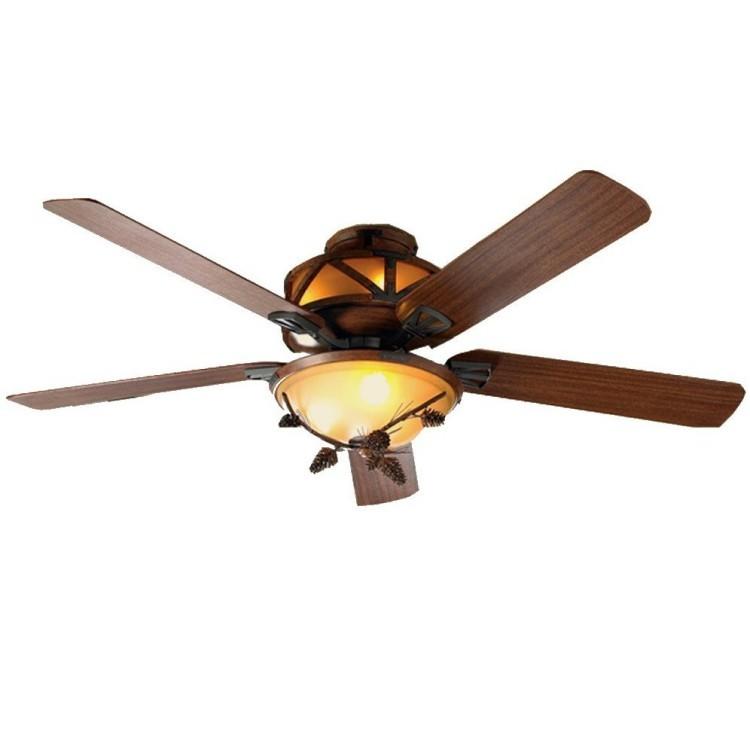 Rustic Pine Cone Ceiling Fan