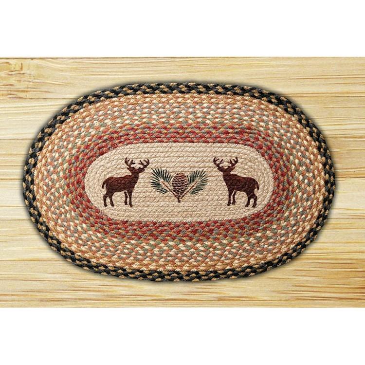 Deer And Pine Cone Jute Rug