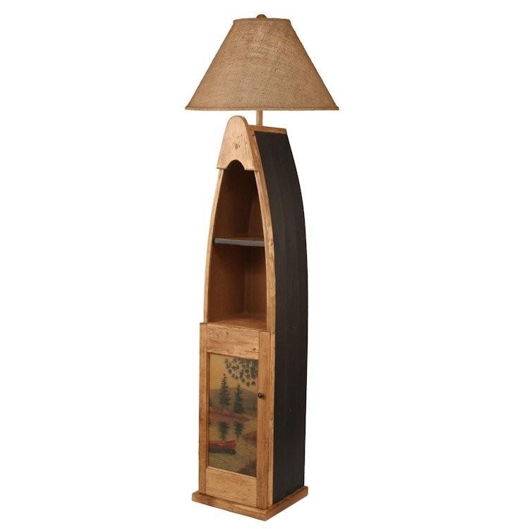 Rustic Cabin Floor Lamps : Wooden boat floor lamp