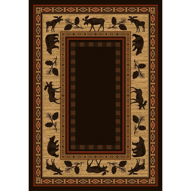 Game Area Rugs: Wilderness Lodge Area Rugs
