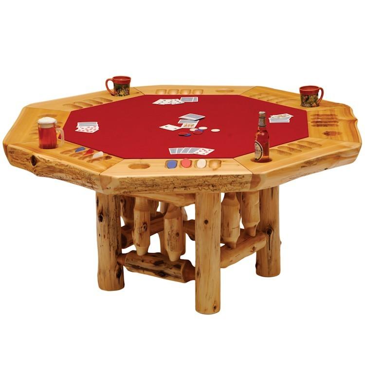 8 sided cedar poker table for Poker table 6 ou 9