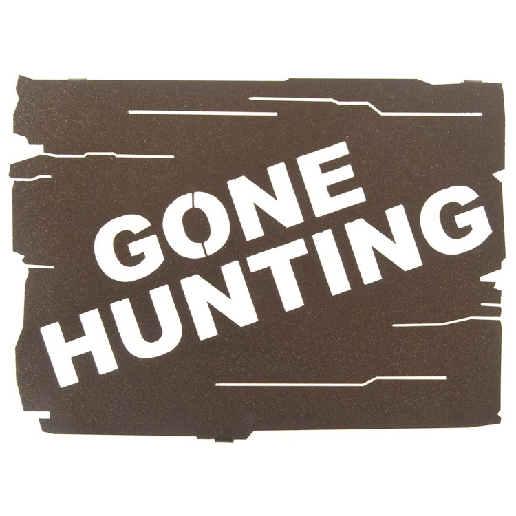 Gone Fishing Signs Decor: Gone Hunting Metal Sign