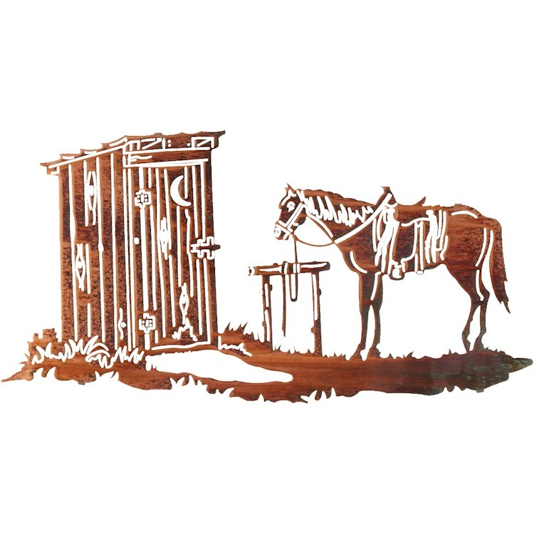 Western Wall Decor Metal : Time out western metal wall art