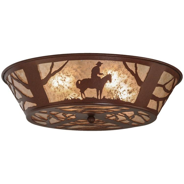 Western Cowboy Ceiling Light
