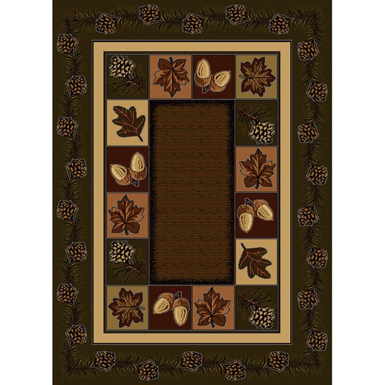 Rustic Throw Rugs: Cody Pine Cone Area Rugs