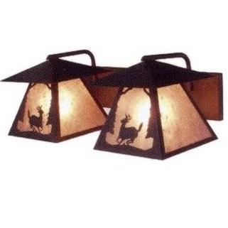 Deer Bathroom Vanity Lights : Deer Twin Prairie Bathroom Vanity Light