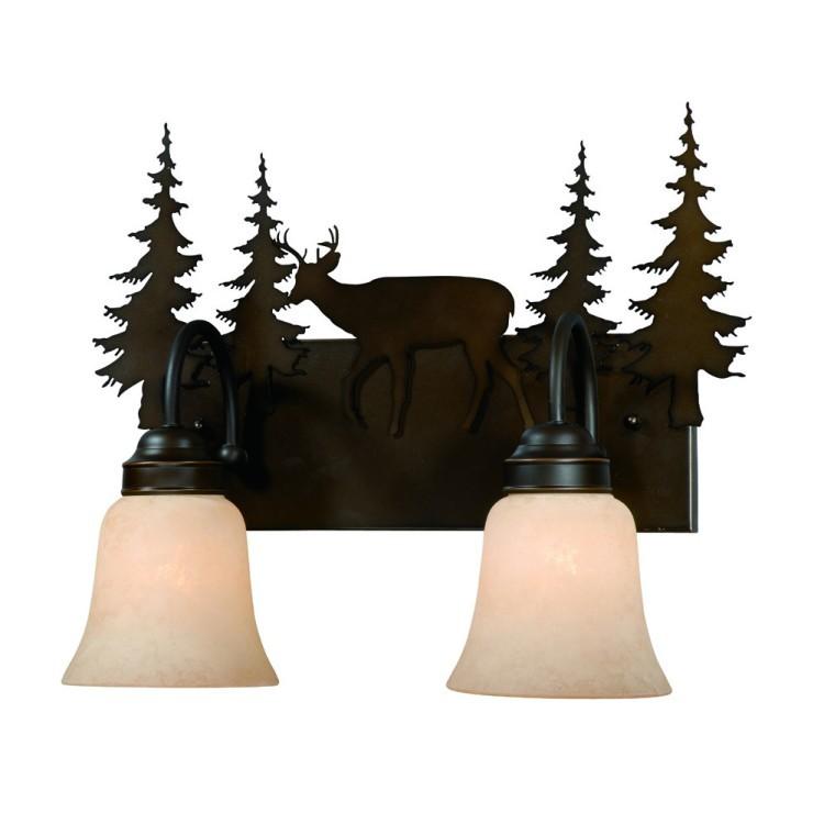 Deer Bathroom Vanity Lights : Bryce Deer Vanity Lights - 3 Sizes Available - Bathroom Vanity Lights - Lighting