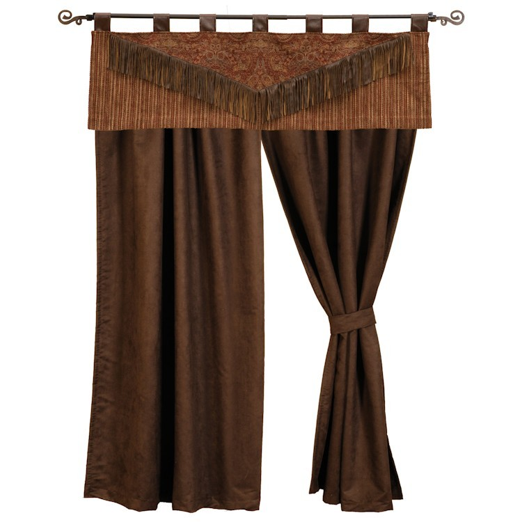 Milady Valance Amp Chocolate Faux Suede Drapes