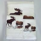Rustic Moose Towel Sets