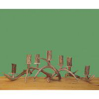 7 Candle Antler Mantle Piece