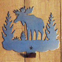 Silhouette Moose Single Hook