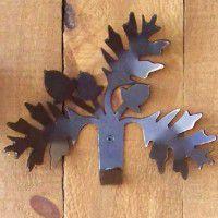 Oak Leaf and Acorn Single Hook