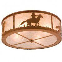 Cowboy Flush Mount Ceiling Light