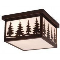 Yellowstone Pine Tree Ceiling Light