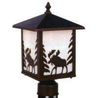 Yellowstone Moose Post Light