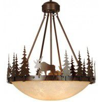 Yellowstone Inverted Moose Pendant Light