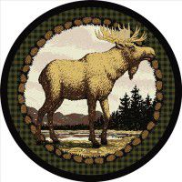 Majestic Moose Round Rug