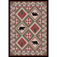 Quilted Forest Rug 3x4