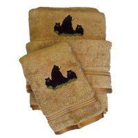 Bear Family Towel Set-Toast