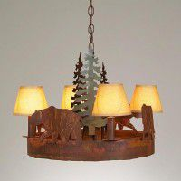 Small Durango Wildlife Chandelier - 6 Images Available