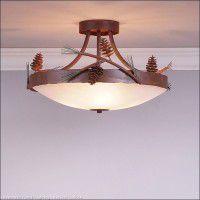 Crestline Pine Cone Semi-Flush Ceiling Light