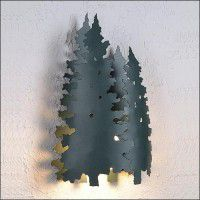 Twin Pine Tree Sconce