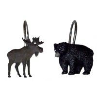 Vintage Outdoors Moose and Bear Shower Hooks