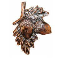 Antique Copper Acorn on Branch Knob