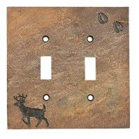 Deer with Tracks Switch Plates