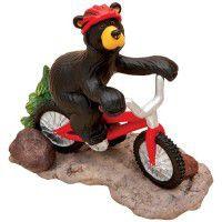 Biking Bear Bearfoot Figurine