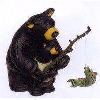 Fishing Lesson Bear Figurine