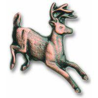 Antique Copper Running Whitetail Deer Knob