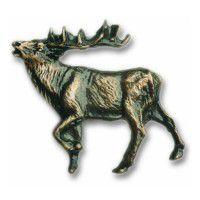 Antique Brass Elk Figure Knob