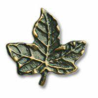 Antique Brass Maple Leaf Knob