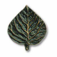 Antique Brass Aspen Leaf Knob