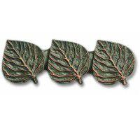 Antique Brass Triple Aspen Leaf Pull