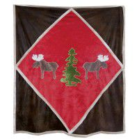 Moose and Pine Tree Throw