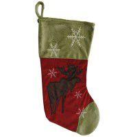 Snowflake Moose Stocking