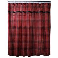 Sagamore Lake Plaid Shower Curtain
