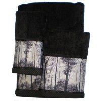 Forest Silhouette Towel Set - 3 Pcs