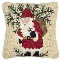 Santa's Shrub Sack Pillow