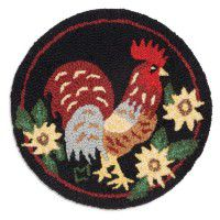 Chanticleer Rooster Chair Pad - Set of 4