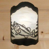 Rustic Bass Sconce