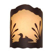 Loon and Cattails Sconce