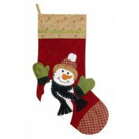 Snowplace Like Home Stocking-Red-CLEARANCE