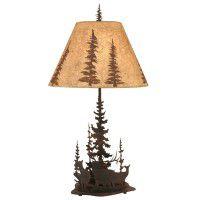 Wilderness Elk Table Lamp